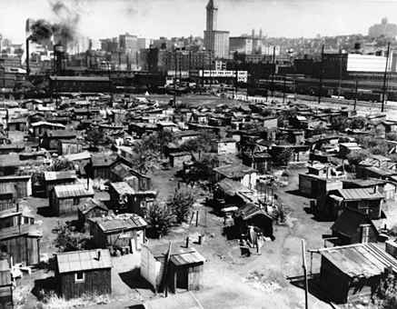 Hooverwille a place filled with poor people who are forced to live in    Inside Hooverville Homes