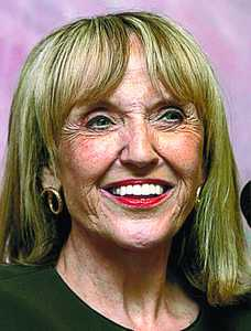 Doctored photo of Governor Brewer