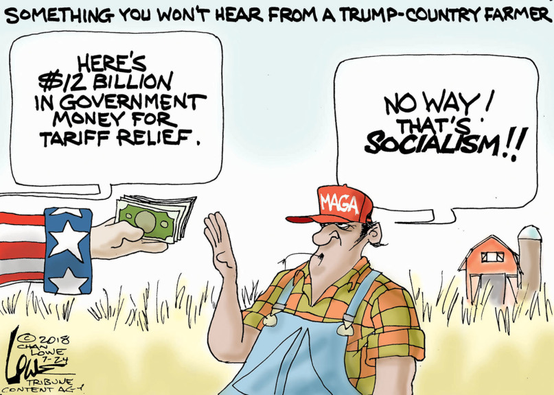 Republican farmers OK with welfare