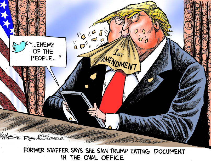Trump dines on 1st amendment