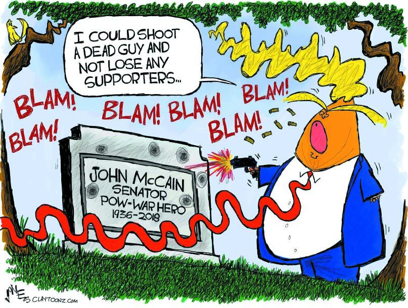 Shooting a dead guy