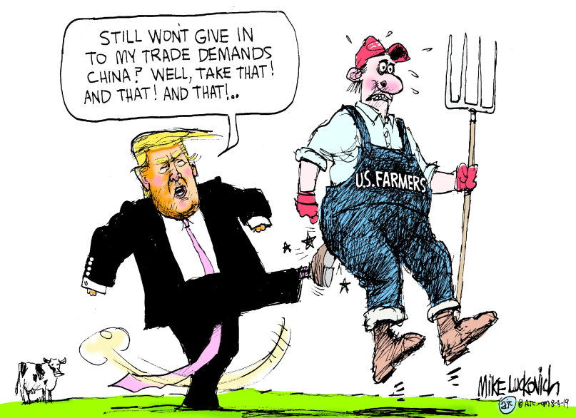 Trump gives farmers the boot